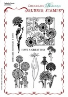 Fantastic Florals Rubber stamp sheet - A5