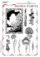 Fantasy Meadow Rubber stamp sheet - A5