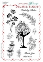 Floral Bouquet Rubber stamp sheet - A5