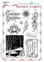 Christmas Cheer Rubber Stamp sheet - A5