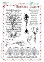 Elegant Crocus Rubber Stamp sheet - A5