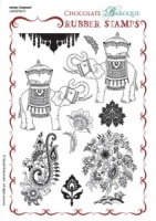 Indian Elephant Rubber stamp sheet - A5
