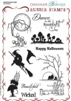 Bewitched Moonlight Rubber stamp sheet - A5