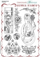 Mackintosh Beauty Rubber stamp sheet - A5