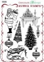 Santa Baby Rubber stamp sheet - A5