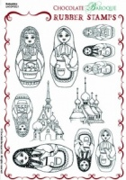Babushka Rubber Stamp sheet - A5