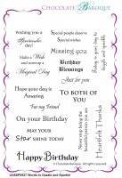 Words to Dazzle and Sparkle Rubber stamp  - A6