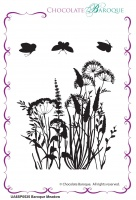 Baroque Meadow Single Rubber stamp  - A6