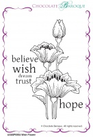 Wish Flower individual unmounted rubber stamp  - A6