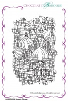 Mosaic Flower individual unmounted rubber stamp  - A6