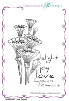 Floral Delight individual unmounted rubber stamp  - A6