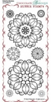 Waterlily Mandala Rubber Stamp Sheet - DL