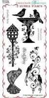Bird Song Rubber Stamp Sheet - DL