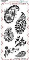 Nature's Paisleys Rubber Stamp Sheet - DL