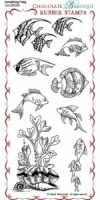 Something Fishy Rubber Stamp Sheet - DL