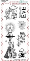 Halloween Candle Rubber Stamp Sheet - DL