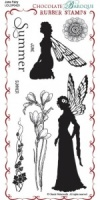 June Fairy Rubber Stamp sheet - DL