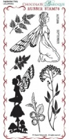 September Fairy Rubber Stamp sheet - DL