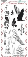November Fairy Rubber Stamp sheet - DL