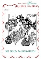 Big Bold Background Christmas Baubles Single Rubber stamp