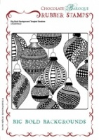 Big Bold Background Tangled Baubles Single Rubber stamp