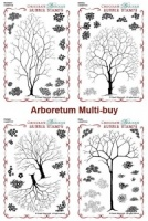 Woodland, Orchard, Glade & Spinny Design-a-Tree Rubber stamps Multi-buy - A6