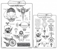 Steampunkery/Steampunk Travel Rubber stamps Multi-buy