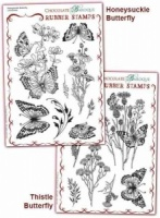 Thistle Butterfly/Honeysuckle Butterfly Rubber stamps Multi-buy - A5