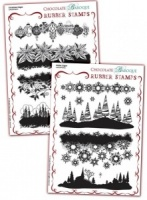 Christmas Edges/Winter Edges Rubber stamps Multi-buy - A5
