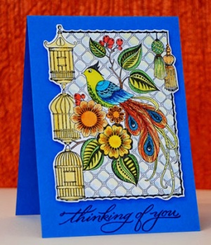 April Cling Mounted Stamps