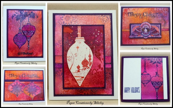 Christmas Cards using a Master Board Background by Shirley Deatcher