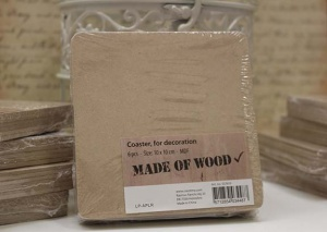 MDF Coasters - 10 x 10cm (pack of 6)