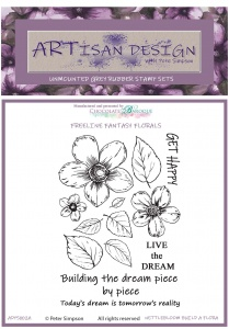 Artisan Design - Nettlebloom Build a Flora unmounted rubber stamp set A6