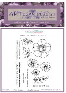 Artisan Design - Creeper Rose Build a Flora unmounted rubber stamp set A6
