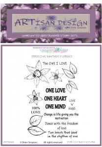 Artisan Design - Star Lily Build a Flora unmounted rubber stamp set A6
