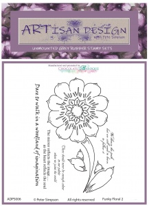 Artisan Design - Funky Floral 2 unmounted rubber stamp set A6