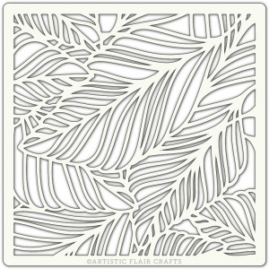 Artistic Flair 152 Range (6''x6'')  - Fallen Leaves stencil template