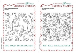 Big Bold Backgrounds Leafy Trails/Belle Flowers Multi-buy Rubber stamps
