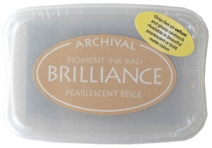 Brilliance Ink Pad - Pearlescent Beige