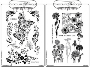 Butterfly Flourish/Fantastic Florals Rubber stamps Multi-buy - A5