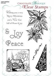 Joyful Christmas Clear stamp sheet -  A5
