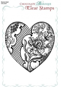 Rococo Baroque Heart Single Clear stamp