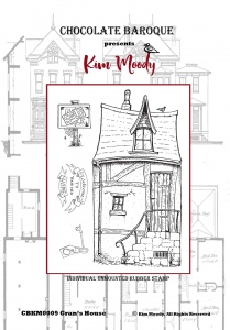Kim Moody -  Gran's House A6  rubber stamp set