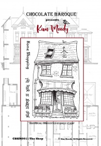 Kim Moody -  The Shop A6  rubber stamp set