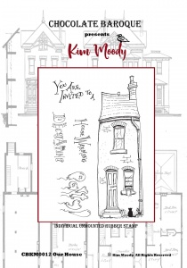 Kim Moody -  Our House A6  rubber stamp set