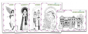 Christmas Five Cling Mounted Individual Rubber stamps Multi-buy