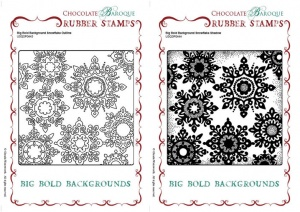 Big Bold Backgrounds Snowflake Outline-Shadow Rubber stamps Multi-buy