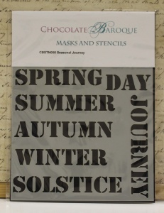 Chocolate Baroque Stencil - Seasonal Journey
