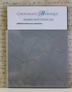 Chocolate Baroque Mask - Kaleidoscope of Butterflies