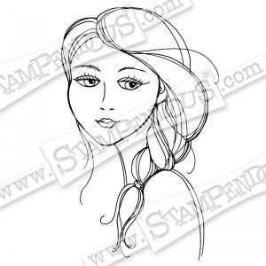 Stampendous Cling Rubber Stamp - Beautiful Braid